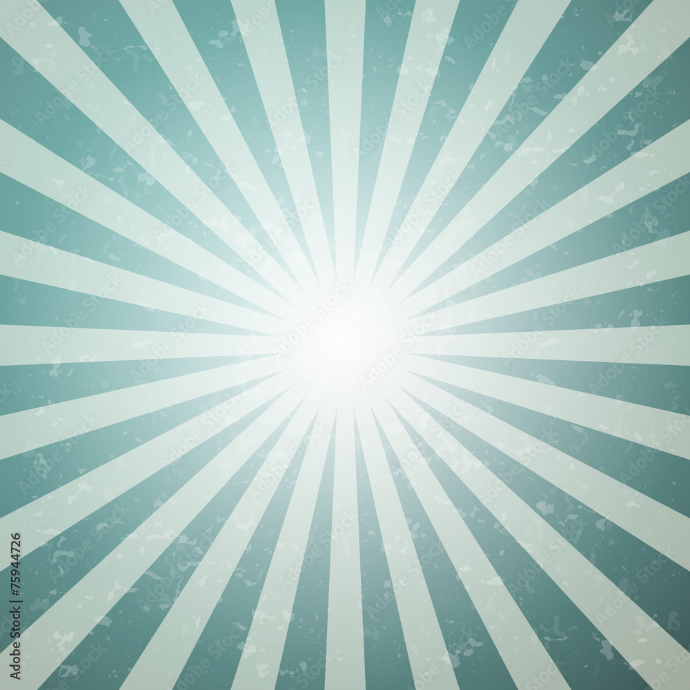 Abstract Vector Star Shaped Retro Green and Blue Background