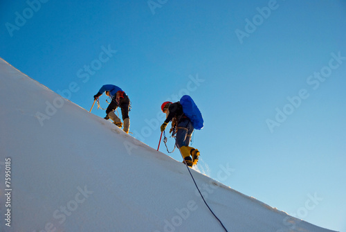 Alpinisme Winter alpine trekking