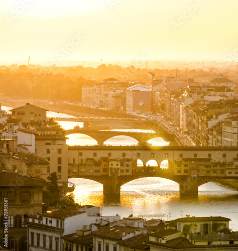 Foto op Canvas Florence Sunset in one of the most romantic cities in the world