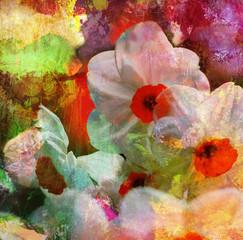 Obraz narzissen malerei texturen