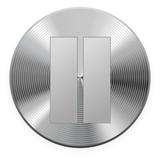 Iron round button. Vector. EPS 10. 2