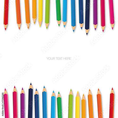 Fotografie, Obraz  Pannello doppie matite