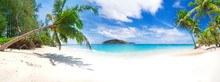 Panorama Of The Tropical Beach...