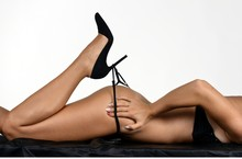Young Female Body In Lingerie With High Heels