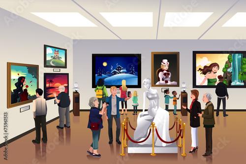 Fotografía  People inside a museum