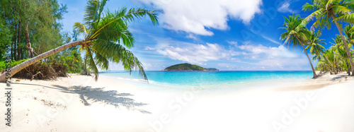 Fototapeta Panorama of the tropical beach in Thailand obraz