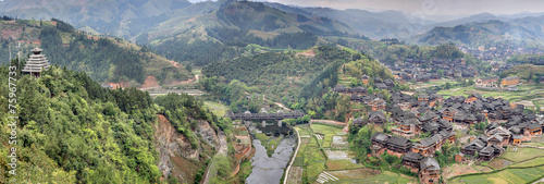 Chengyang Wind and Rain Bridge Scenic Area Slika na platnu