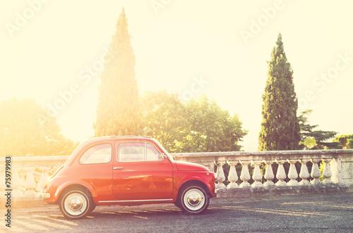 Poster  Old Italian car FIAT 500