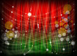 red green background bokeh light twinkle graphic