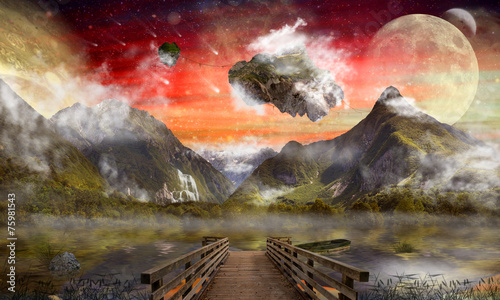 Photo  Fantasy land, wonderland, dreamland, digital art