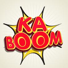 Stylish Text Ka Boom On Pop Art Explosion.