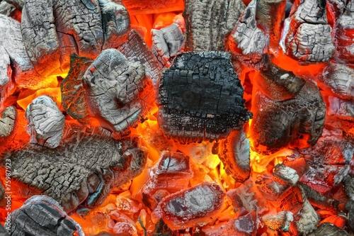 fototapeta na lodówkę Gorący Węgiel