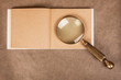 vintage magnifier on paper