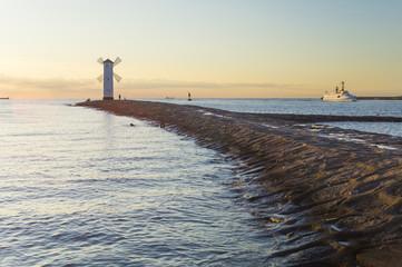fototapeta zachód słońca nad morzem