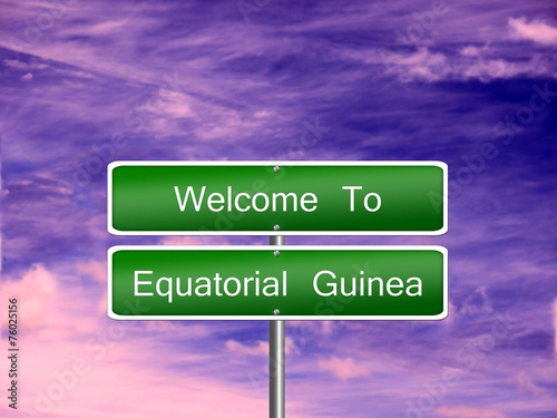 Fotografía  Equatorial Guinea Travel Sign
