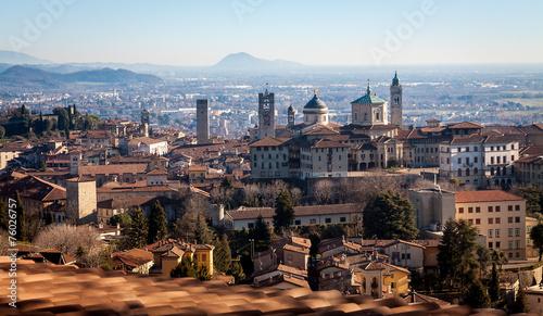 Fotografie, Obraz  Aerial view of Bergamo