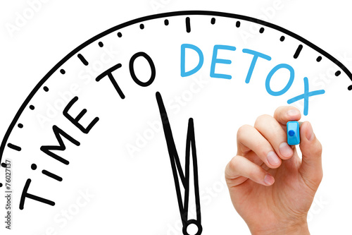 Time to Detox Clock Concept