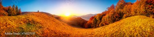 Colorful autumn landscape - 76027517