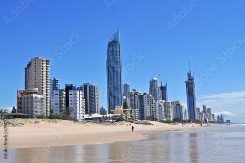 Valokuva  Gold Coast City in Queensland, Australia. Beach cityscape.