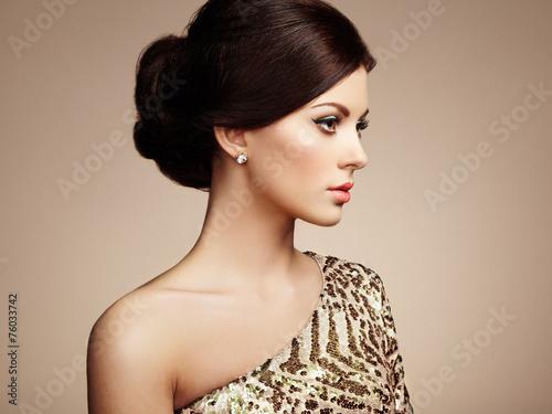 Fotografie, Obraz  Fashion portrait of elegant woman with magnificent hair