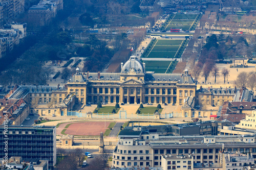Photo  Military Academy in Paris, view from top