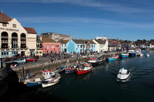 Weymouth Harbour On A Bright S...