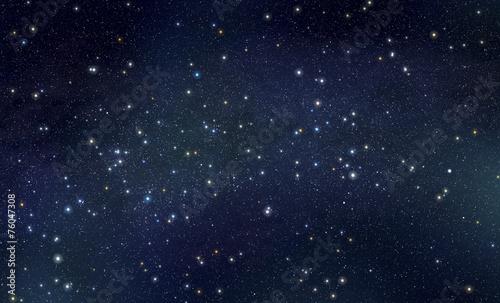 Fotografía Stars with nebula background