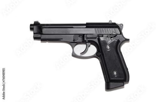 Beretta M9 gun copy isolated on white background Wallpaper Mural