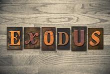 Exodus Concept Wooden Letterpress Type