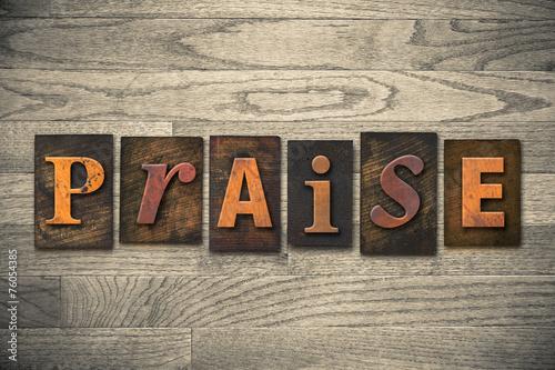 Photo Praise Concept Wooden Letterpress Type