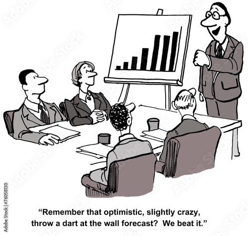 Fotografía  Business Team Beat Forecast