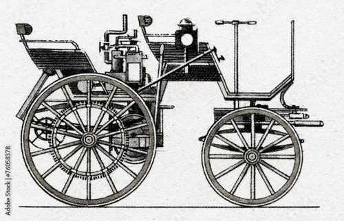 Daimler Motorized Carriage, 1886