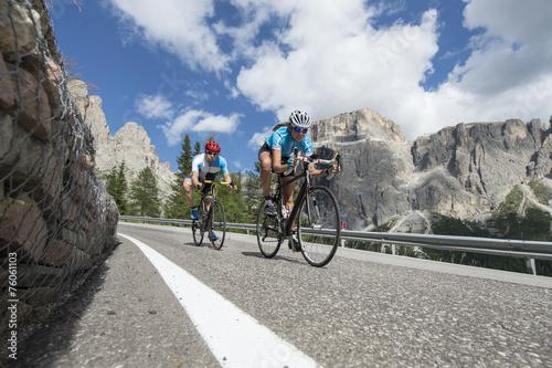 Downhill cycling road