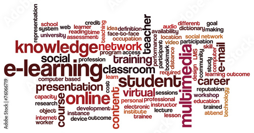vector of tag cloud with words related to distance learning buy