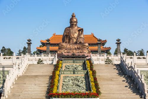 Foto auf AluDibond Tempel Laozi statue