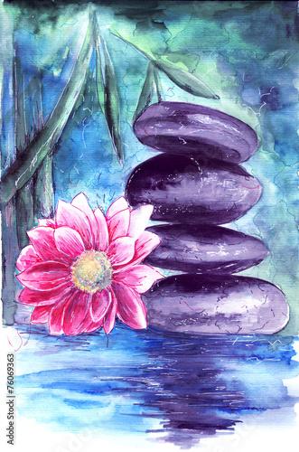lotos-i-kamienie-w-wodzie