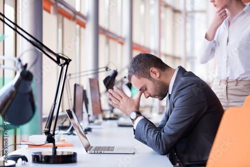 Vászonkép frustrated young business man