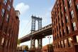 Manhattan Bridge New York NY NYC from Brooklyn