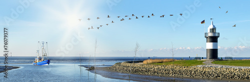 Foto auf AluDibond Nordsee Nordseeküste, Wremen