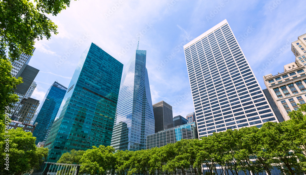 Fototapety, obrazy: New York city Manhattan Bryant Park US