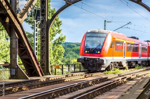 Plakat Lokomotywa elektryczna we Frankfurcie