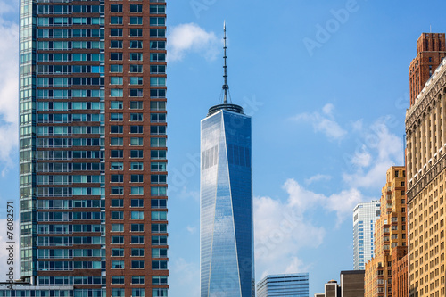 Lower Manhattan new skyline Freedom Tower US Poster