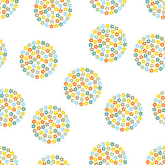 Fototapeta Polka dot. Cute seamless pattern.