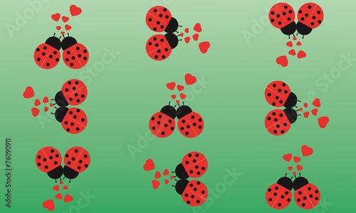Foto op Canvas Lieveheersbeestjes Stampa Biglietto Auguri Amore San Valentino 14 Febbraio