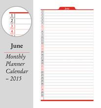 June, Montly Planner Calendar ...