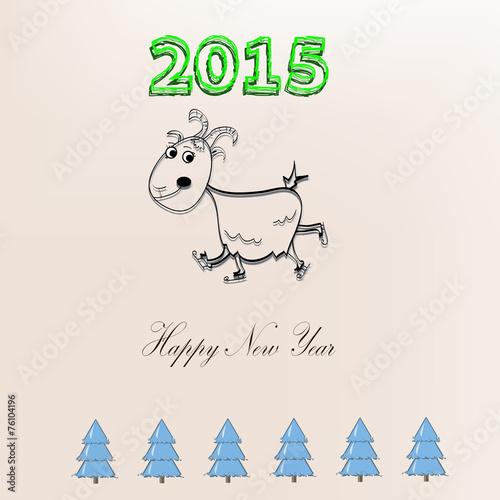 happy new year goat