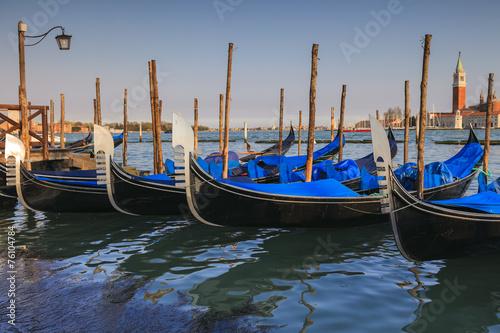 Foto op Canvas Gondolas Gondole in Venezia
