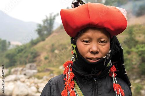 mata magnetyczna Kobieta z Red Dao mniejszości w Sapa, Wietnam