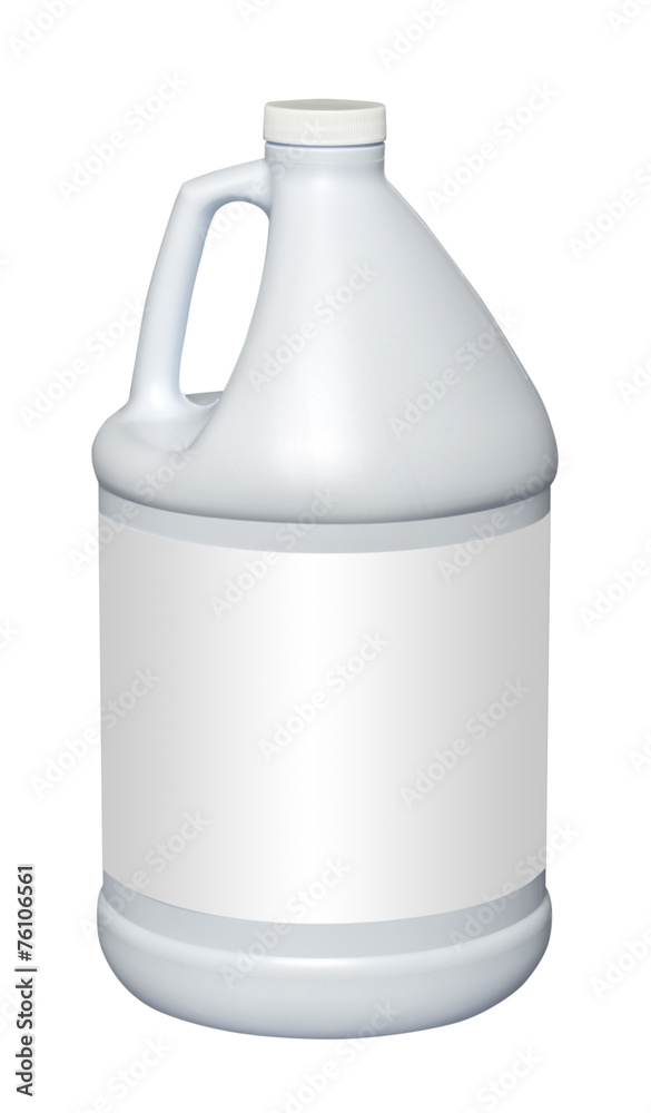Fototapety, obrazy: Gallon plastic jug, isolated with empty label