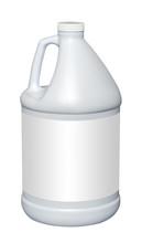 Gallon Plastic Jug, Isolated W...